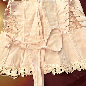 Dreamgirl pink Corset set size 38